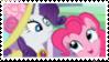 Rarity x Pinkie Pie - Stamp by RedVelvetKittens