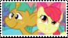 Snails x Apple Bloom - Stamp by RedVelvetKittens