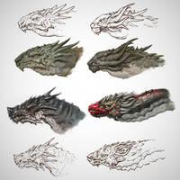 Dragons sketch by Gottsnake
