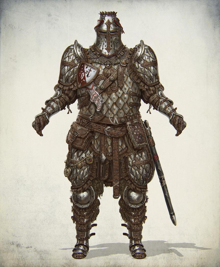 Lamellar heavy knight by Gottsnake