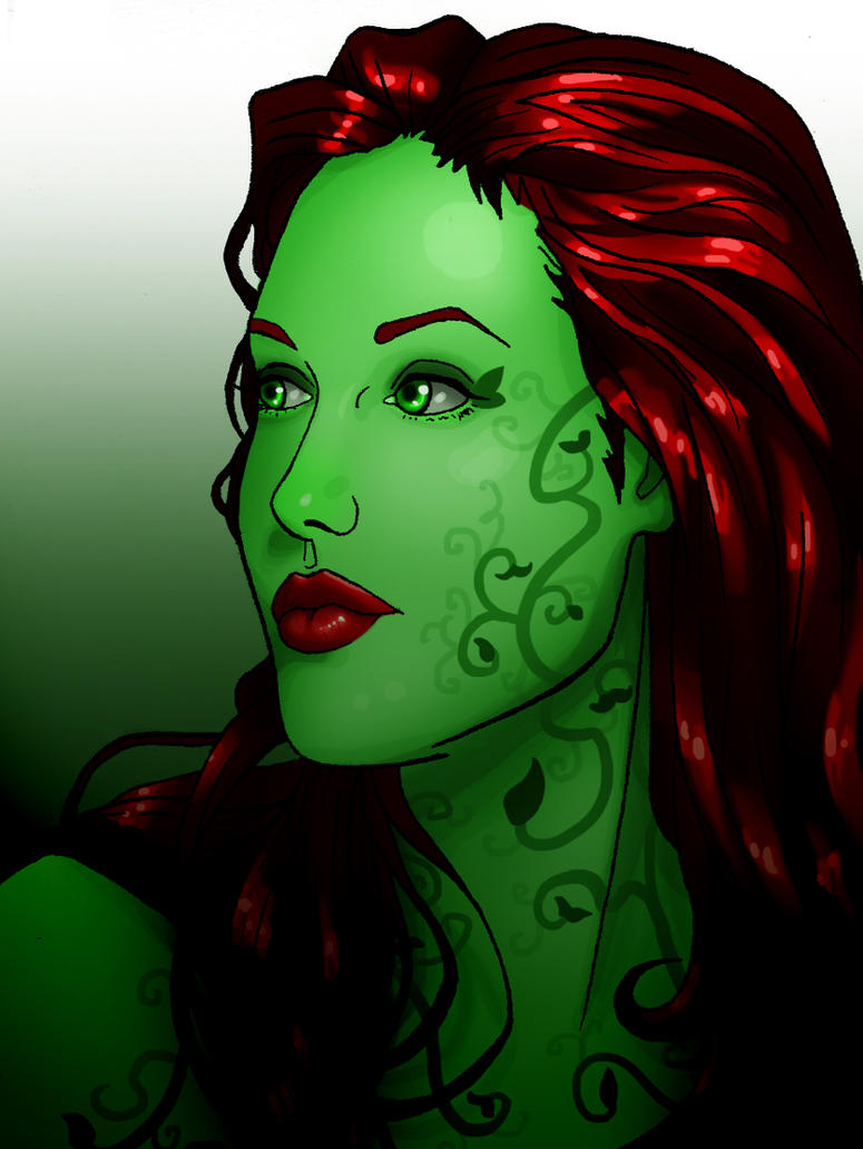 Angelina Jolie as Poison Ivy by Art-Gem