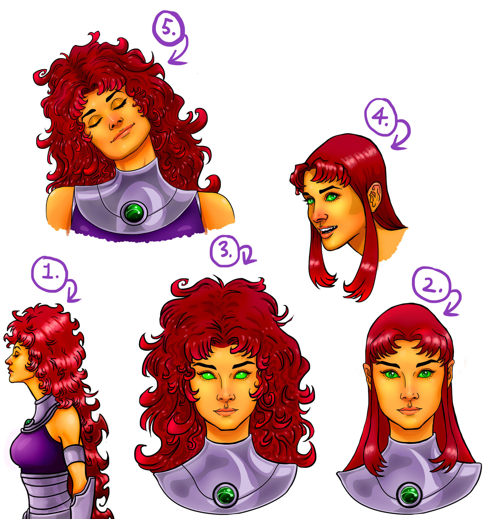 Audrey Hepburn as Starfire sketches by Art-Gem