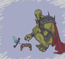 Kameo Sketch Challenge - Thorn vs Kalus by Art-Gem