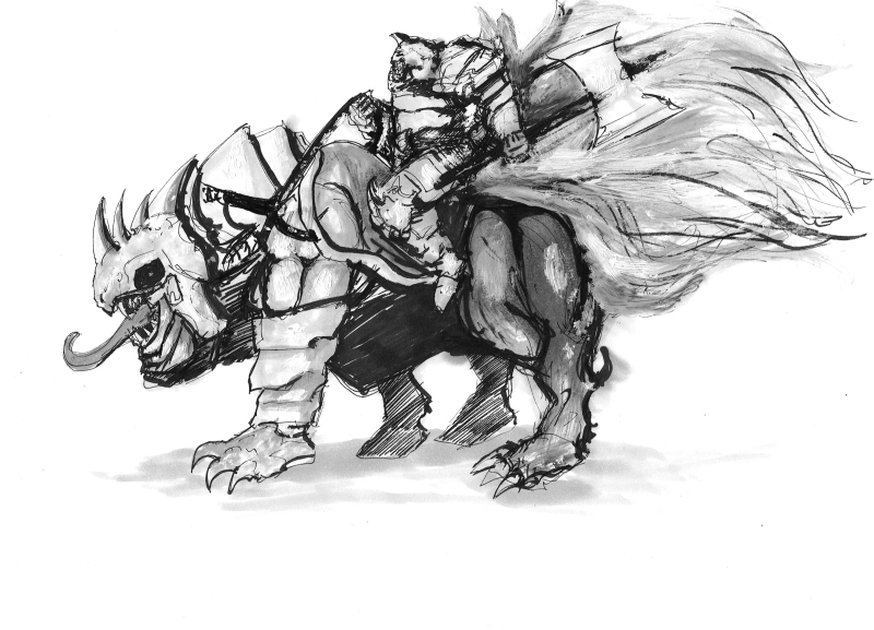 Weekly sketch - Rider by Brollonks