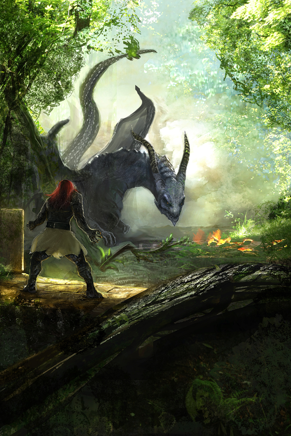 The Chronicles of Dragon Book 6 Cover Illustration by Brollonks