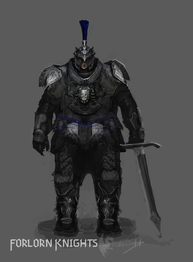 Female Forlorn Knight Concept by Brollonks