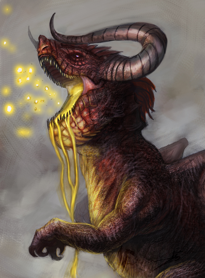 The Wingless Dragon by Brollonks