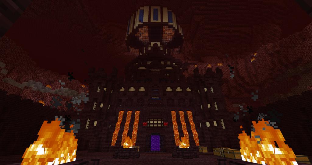 Minecraft Nether Fortress By Zay13 d5z2hjc Enderfan342 On DeviantArt