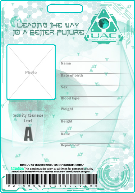 free california identification card templates blank uac badge template
