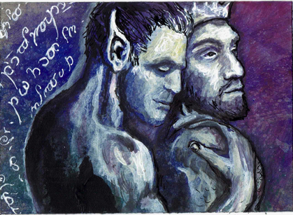 Love of a Warrior and King    ATC by drake22ice