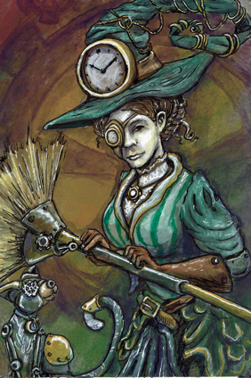 Steampunk Witch by drake22ice