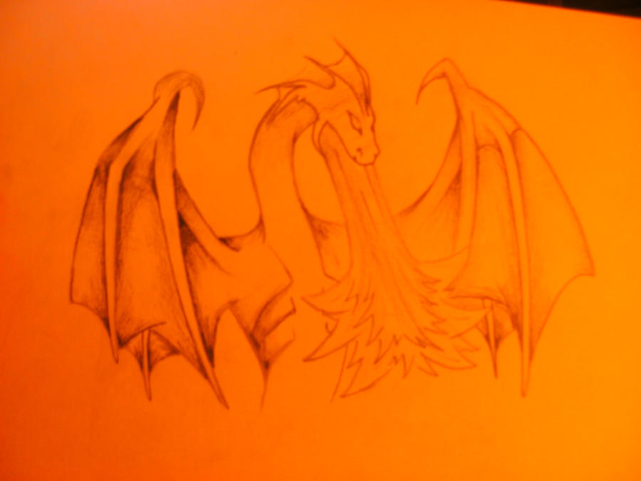 how to draw a fire breathing dragon