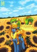 Sea of sunflowers by Margony