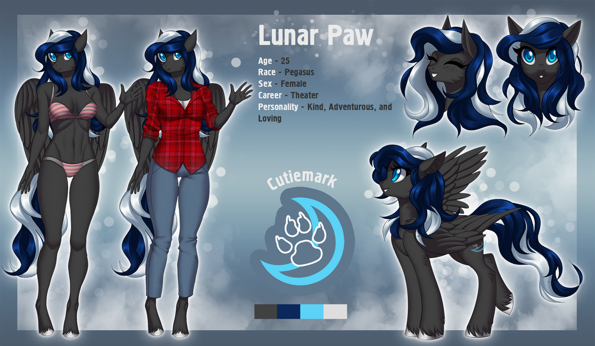 Lunar Paw reference commission by Margony