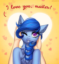I love you master! by Margony
