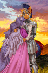 Knight and princess by Margony