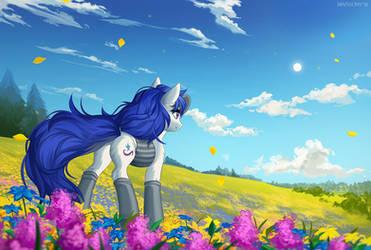 Flower field by Margony
