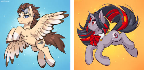 Flydry and Drave by Margony