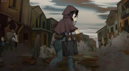 Dusty village
