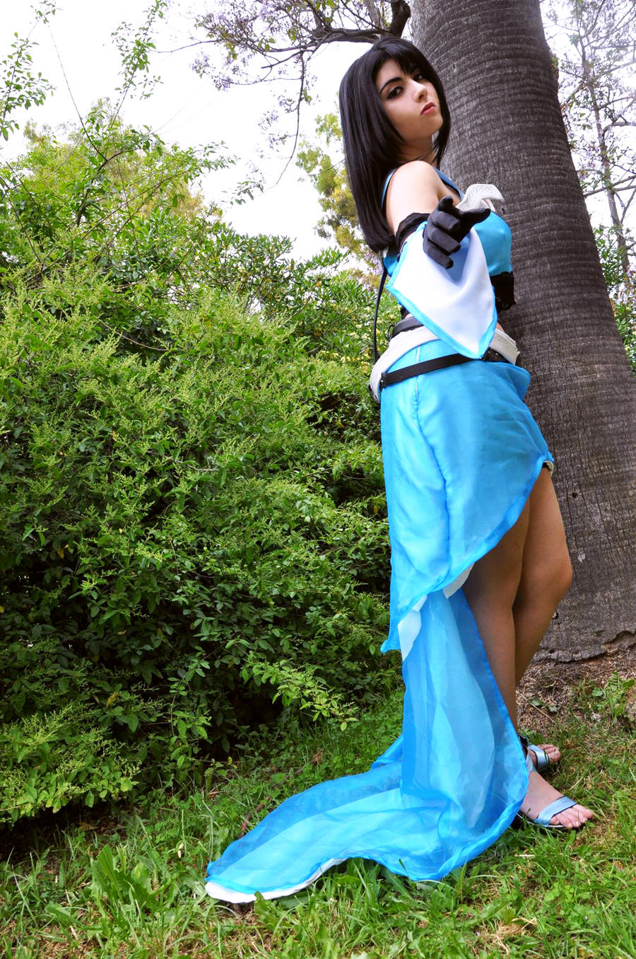 Rinoa LightBlue Dress Monty Oum design Inspired by PrincessRiN0a