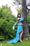 The Lady in LightBlue dress Monty Oum inspired by PrincessRiN0a