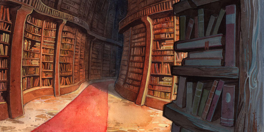 [Konoha] Biblioteca The_library_by_dawnelainedarkwood