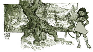 wee woodland door by DawnElaineDarkwood