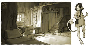 robin's room by DawnElaineDarkwood