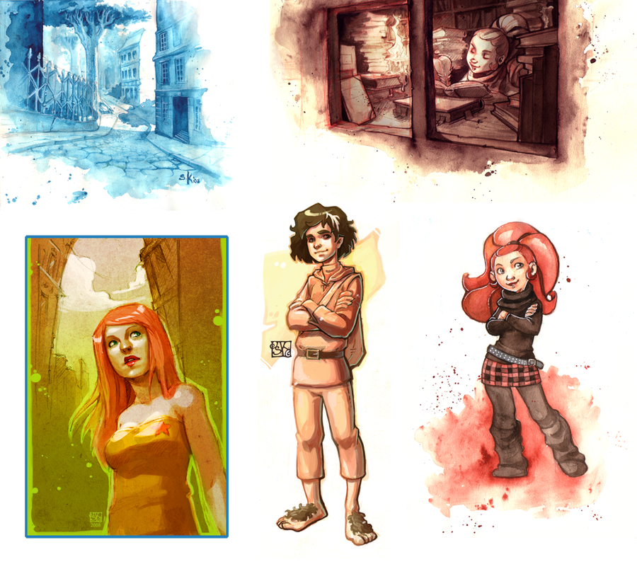 color sketches by DawnElaineDarkwood