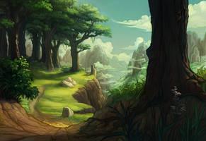 winding path by DawnElaineDarkwood