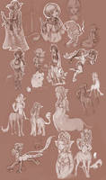mostly centaur sketches