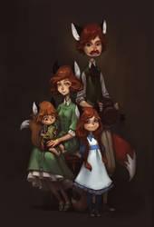 family portrait by DawnElaineDarkwood
