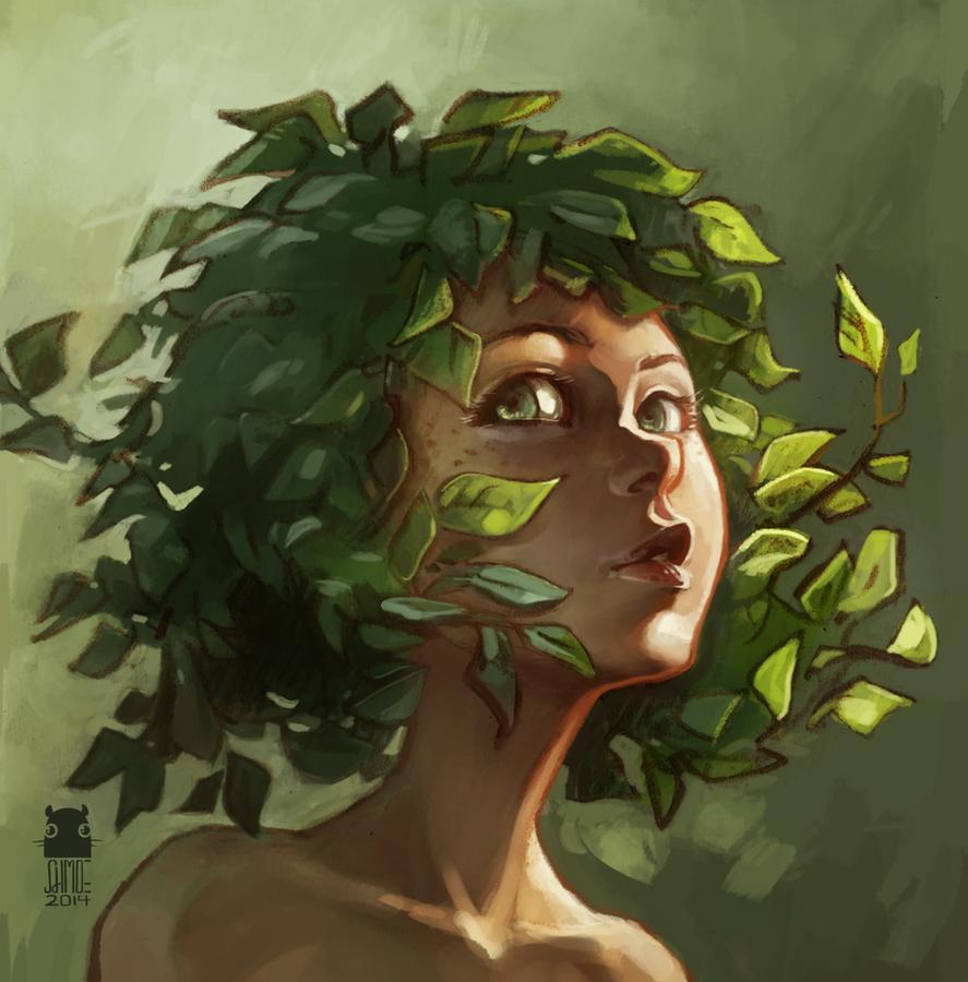 birch in sunlight by DawnElaineDarkwood