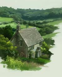 cottage by DawnElaineDarkwood