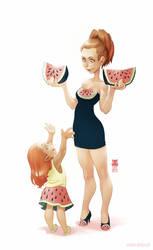 Watermelons by DawnElaineDarkwood