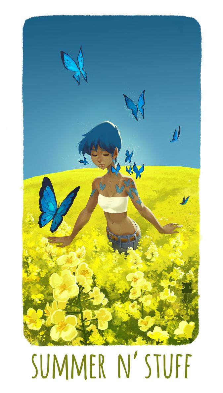 summer n' stuff by DawnElaineDarkwood