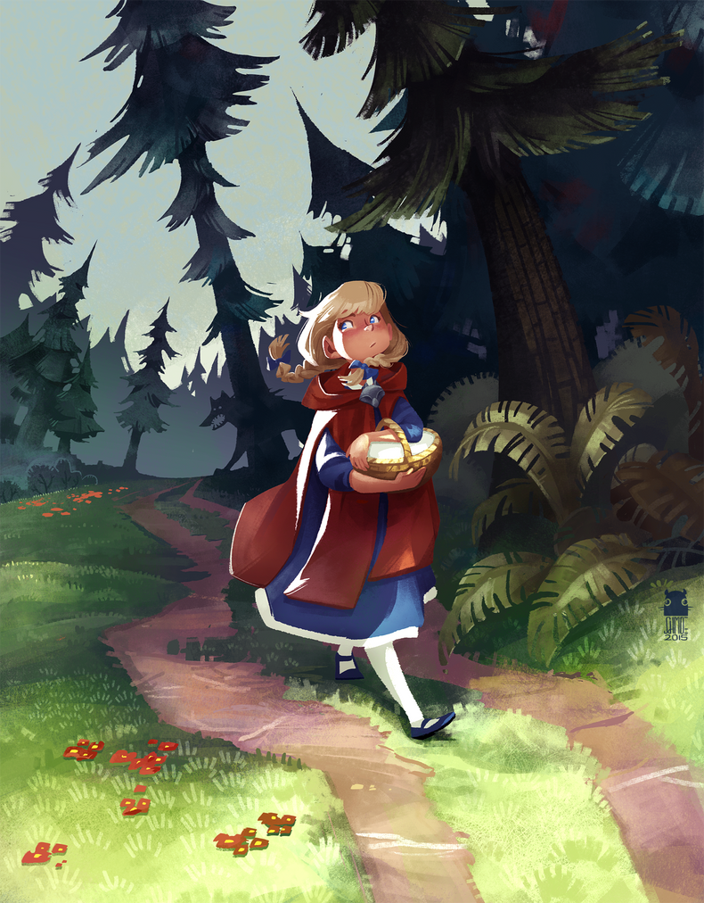 Red Riding Hood by schmoedraws