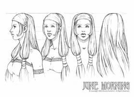 june  turnaround portrait by DawnElaineDarkwood