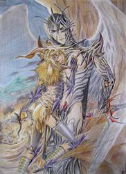 Azazel and his scapegoat III by Mokolat