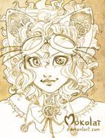 Lady gearwheel by Mokolat