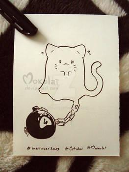 ^ ^ Catober - day 4  - Ghost Cat ^ ^