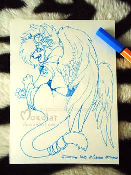 ^ ^ Catober - day 7  - Celestial Cat ^ ^
