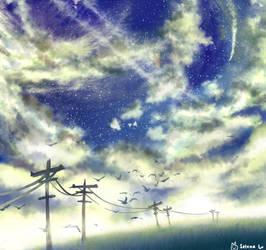 Sky practice by Digital-Yume