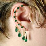 Emerald Gold Ear Wrap- SOLD