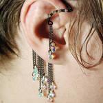 Crystal ab Ear Wrap- SOLD