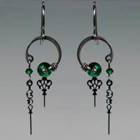 Eirene II Steampunk earrings- SOLD by YouniquelyChic