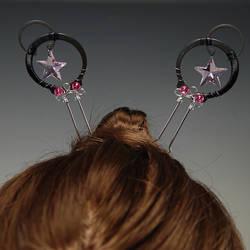 Pink Hair Pins- SOLD