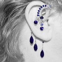 Dark Indigo Ear Wrap V3- SOLD by YouniquelyChic