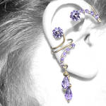 Purple Ear Wrap and Cuff Set v6- SOLD