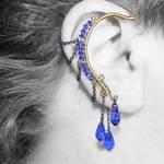 Sapphire Crystal Ear Wrap- SOLD